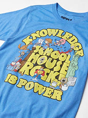 School Rock Knowledge is Power Logo Group Adult T-Shirt