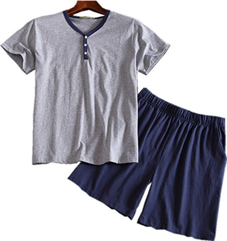 Men's Cotton Woven Short Sleeve Pajama Set