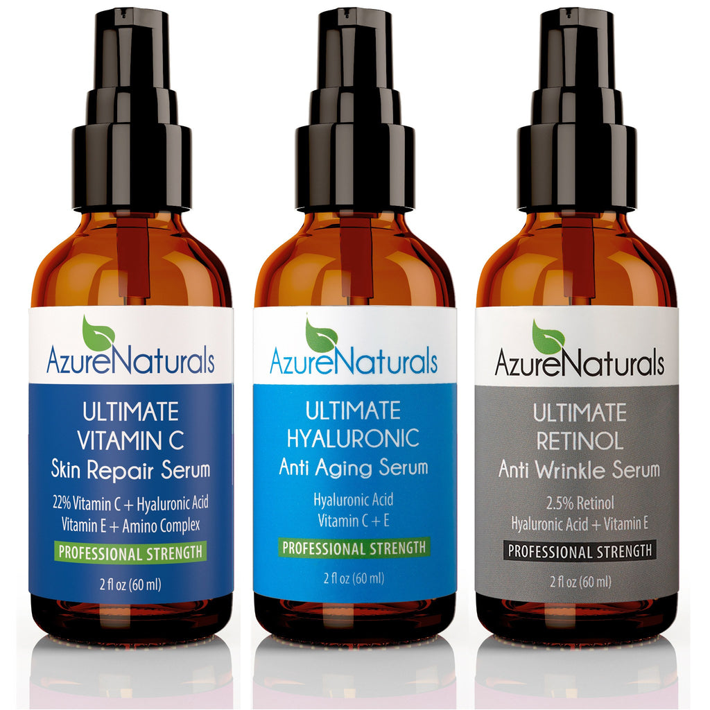 Ultimate Vitamin C, Hyaluronic + Retinol - Three Pack