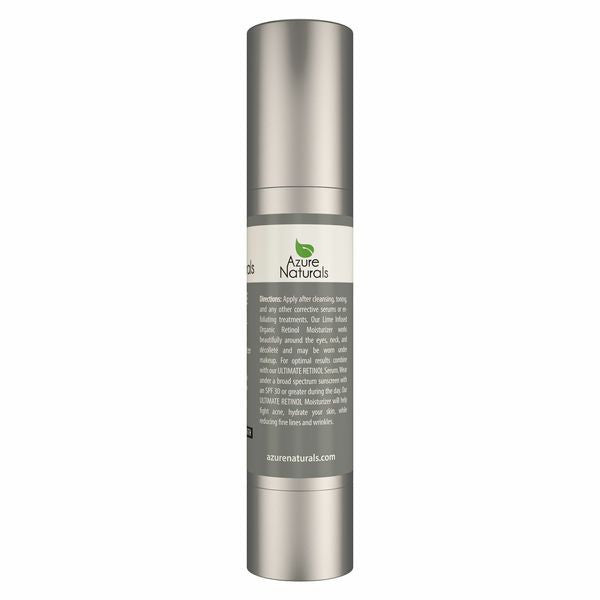Retinol Organic Moisturizer - Lime Infused with 2.5% Retinol