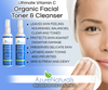 Sweet Orange Infused Organic Facial Cleanser and Toner Combo Set