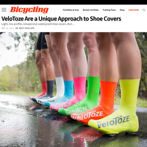 Bicycling Magazine Reviews veloToze Shoe Covers