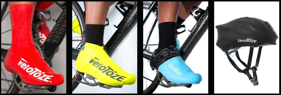 All veloToze Products - Tall Shoe Covers, Short Shoe Covers, Toe Covers, Helmet Cover
