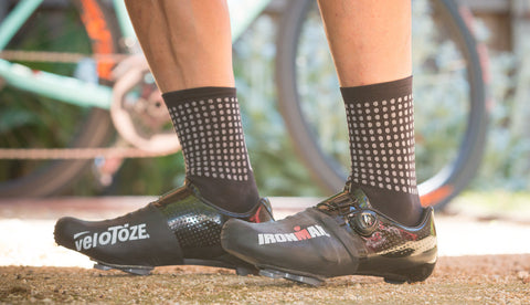 Ironman branded veloToze Toe Covers