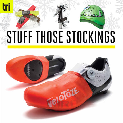 Triathlete Magazine Includes veloToze Toe Cover in Stocking Stuffer Guide