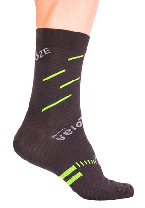 veloToze Cycling Sock - Active Compression with Merino Wool