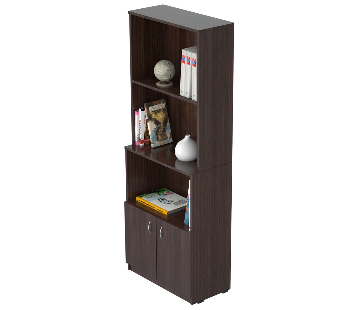Inval Bookcase with Storage Area - Espresso Wengue