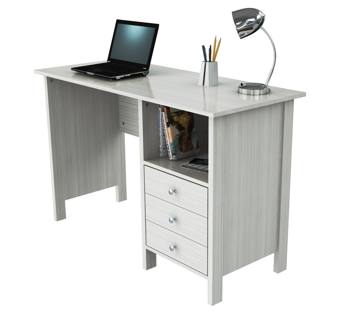 Inval Computer Desk - Laricina White