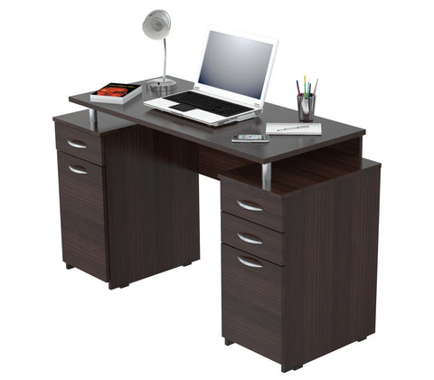 Inval Computer Desk with Four Drawers - Espresso Wengue