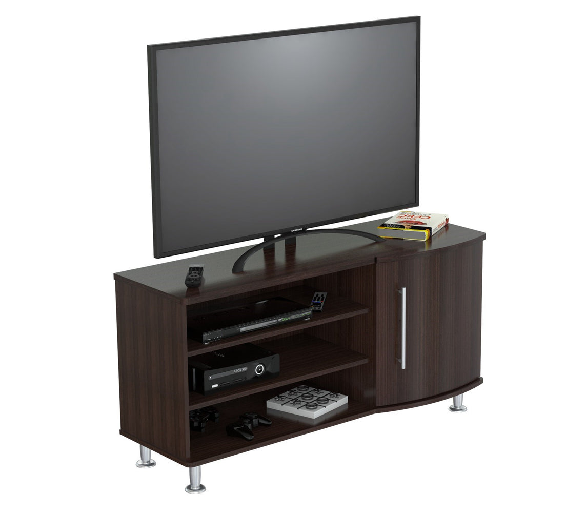 Inval Curved Front 50 Inches Flat-Screen TV Stand - Espresso Wengue