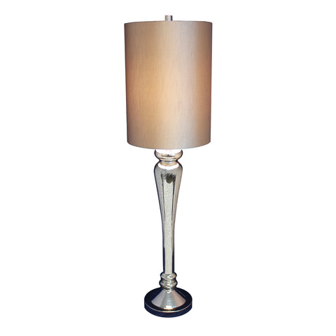 Urban Designs Regina 40-Inch Tall Antique Mercury Glass Table Lamp