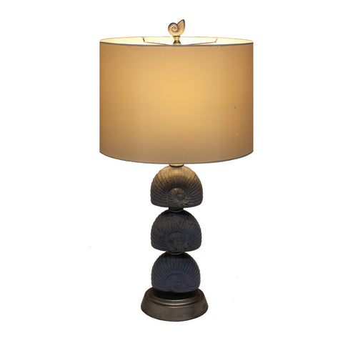 Urban Designs Coastal Seashell Glazed Ceramic 32-Inch Table Lamp