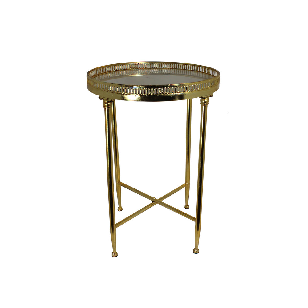 Urban Designs Faith 25-Inch Marble Top Round Accent Table