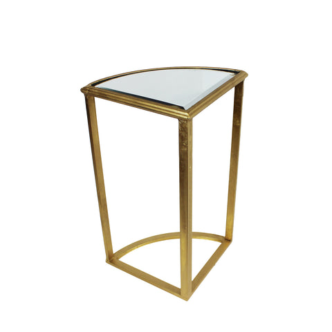 Urban Designs Round Gold Mirror Accent Table - Set of 5