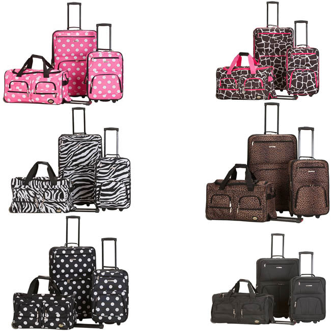 Rockland Fashion Expandable 3-Piece Luggage Set