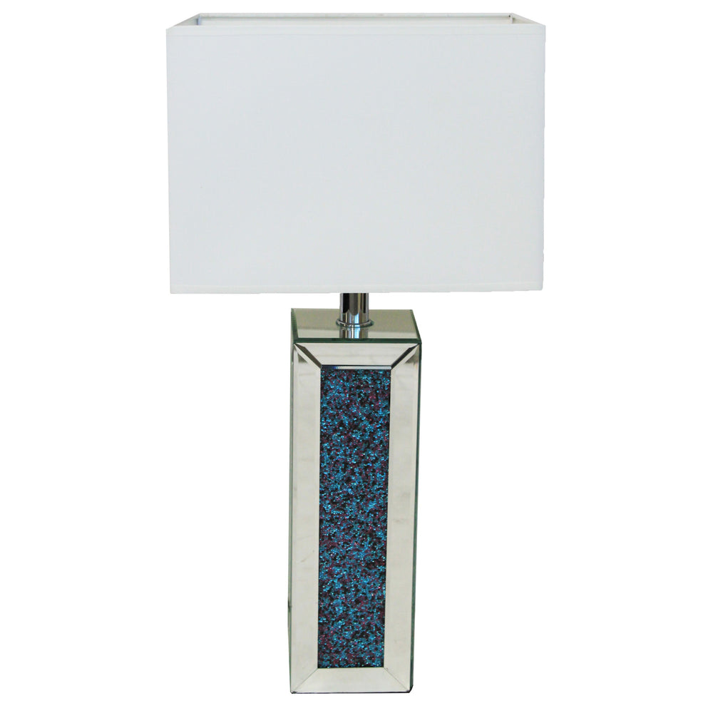 Urban Designs Alexandra Rhinestone 28-inch Column Table Lamp