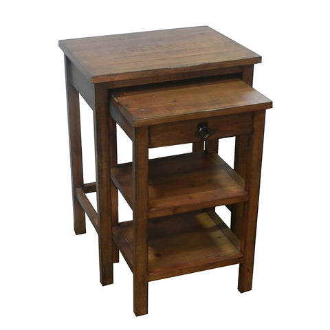 Urban Designs Ezra 2-Piece Nesting Wooden Accent Table Set