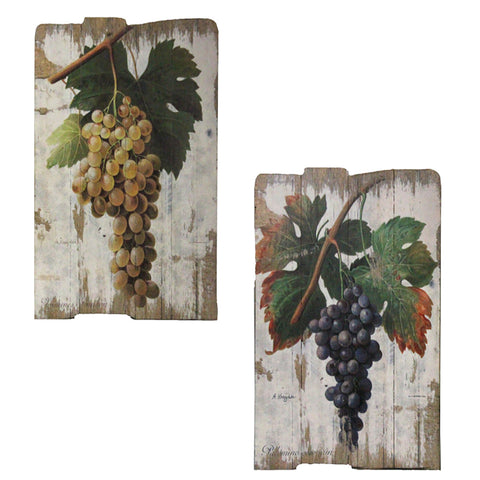 Urban Designs Vintage Vineyard Wooden Prints Wall Art - Set of 2