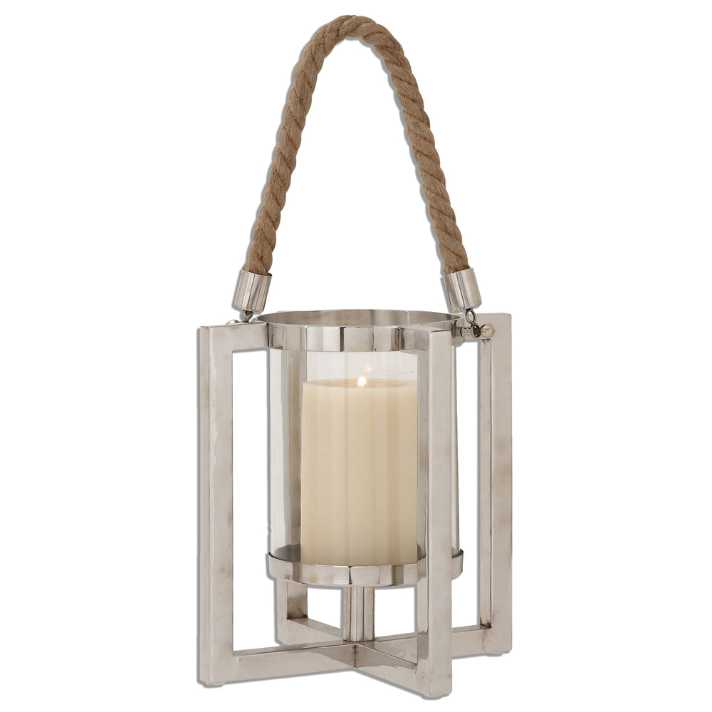 Urban Designs Steel Lantern Candle Holder