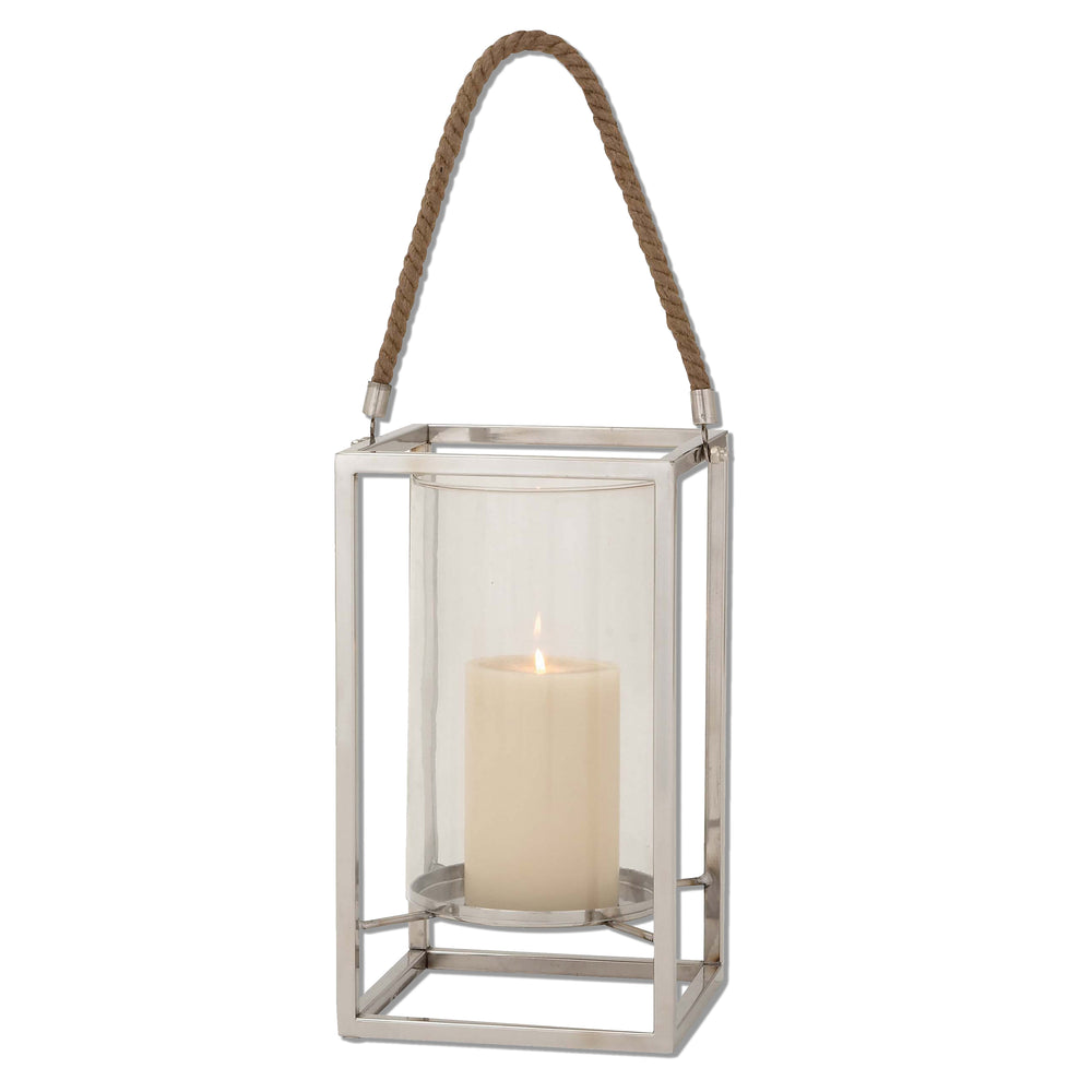 Urban Designs Rectangle Steel Lantern Candle Holder