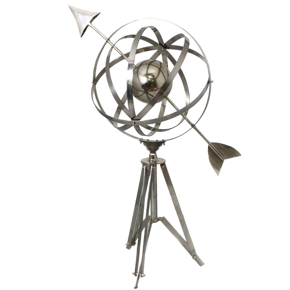 Floor Armillary Sphere World Globe Tripod Studio Accent Decor