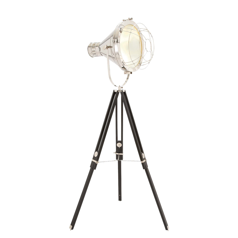 "Urban Designs 75"" Hollywood Studio Director's Spotlight Tripod Floor Lamp"