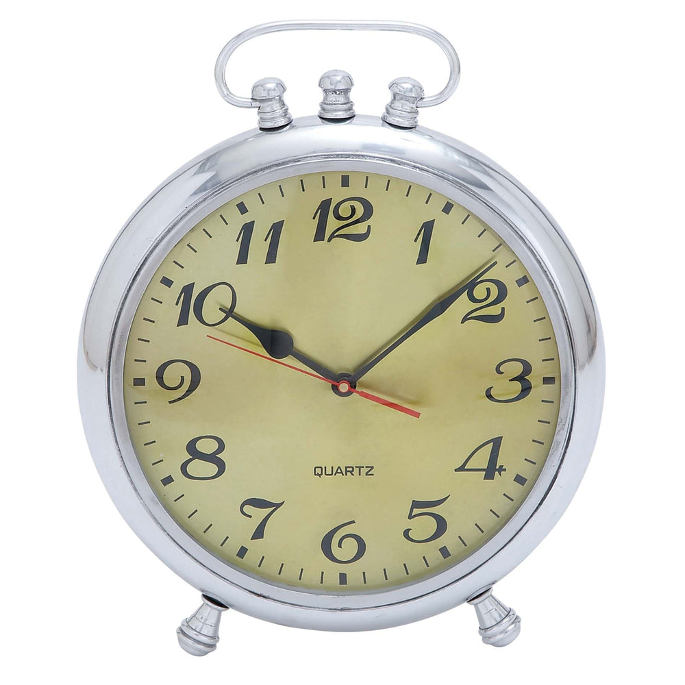 "Urban Designs Vintage Classic 13"" Aluminum Metal Table Clock"