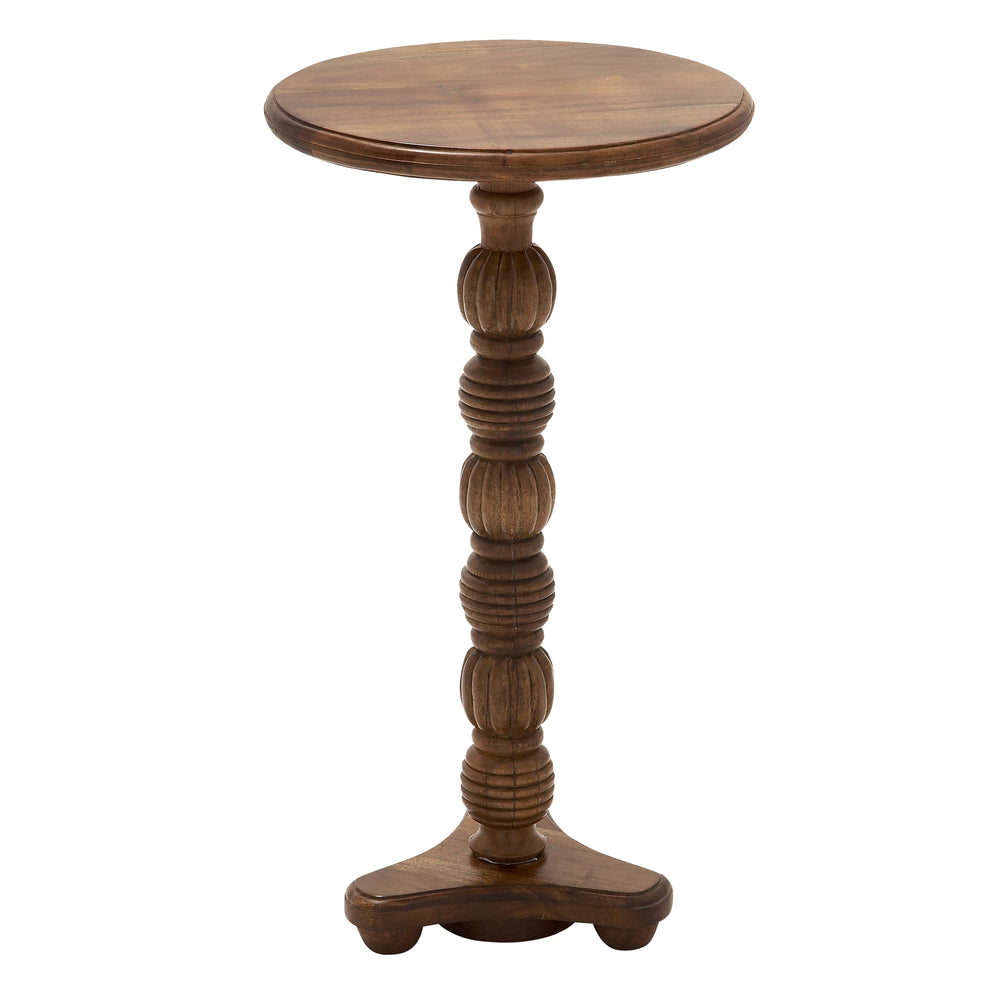 "Urban Design 24"" Rustic Wooden Pedestal Accent Table"