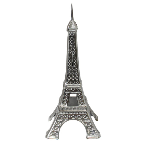 "Urban Designs Eiffel Tower 21"" Cast Aluminum Collectible Statue - Silver"