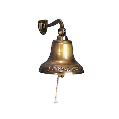 Antique Replica 1912 Brass Titanic Ship Hanging Wall Bell