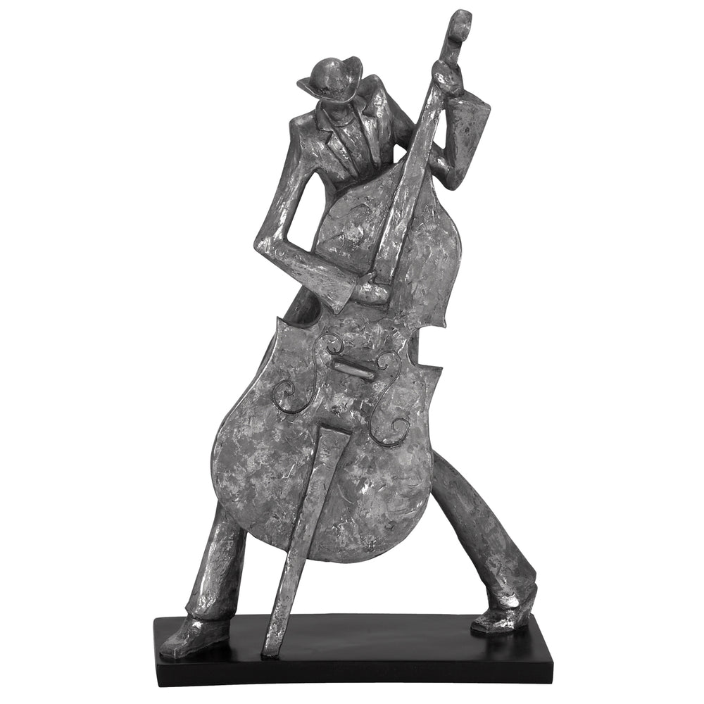 "Urban Designs New Orleans Mardi Gras 19"" Jazz Cello Musician Figurine"