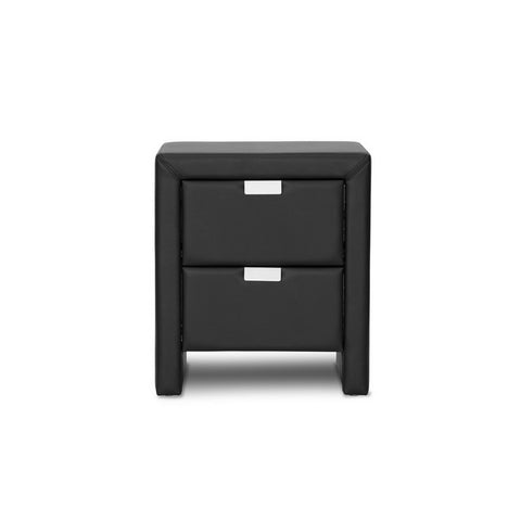 Urban Designs 22-Inch Frey Black Upholstered Modern Nightstand