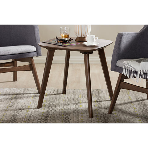 Urban Designs Dahlia Mid-Century Modern Walnut Wood End Table