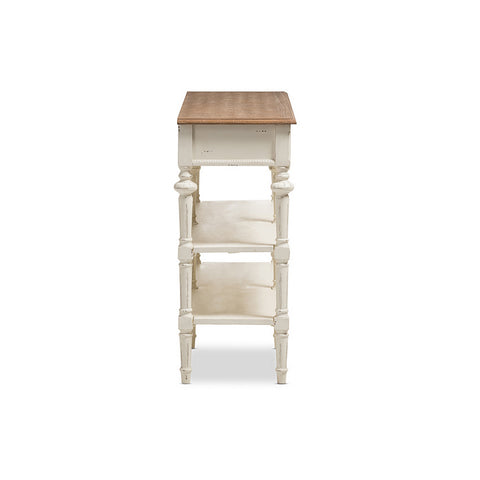 Urban Designs French Provincial Weathered Oak and Whitewash Console Table