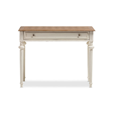 Urban Designs Marquetterie Weathered Oak and Whitewash Writing Desk
