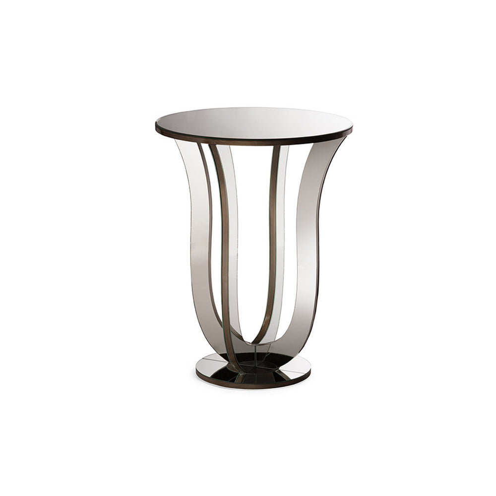 Urban Designs Kylie Modern Mirrored Accent Side Table