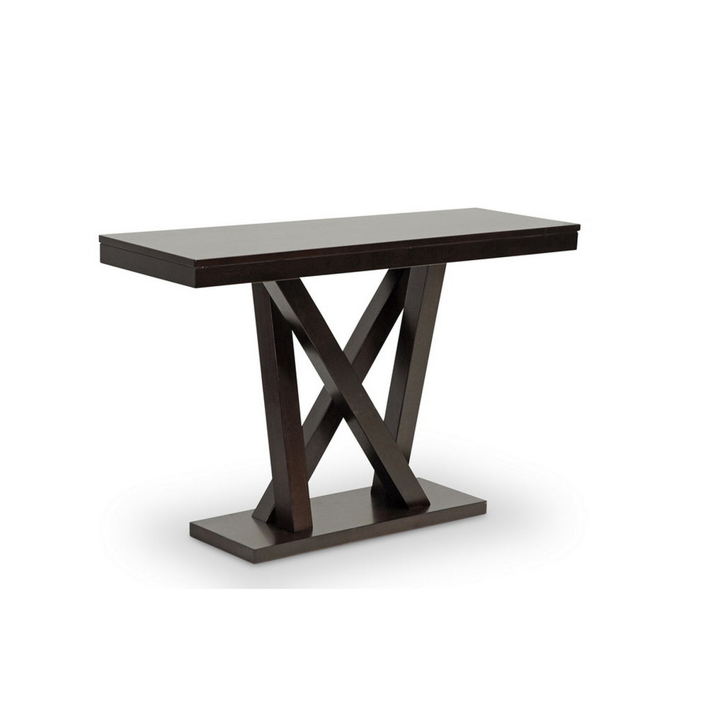 Urban Designs 30-Inch Everdon Dark Brown Modern Sofa Table