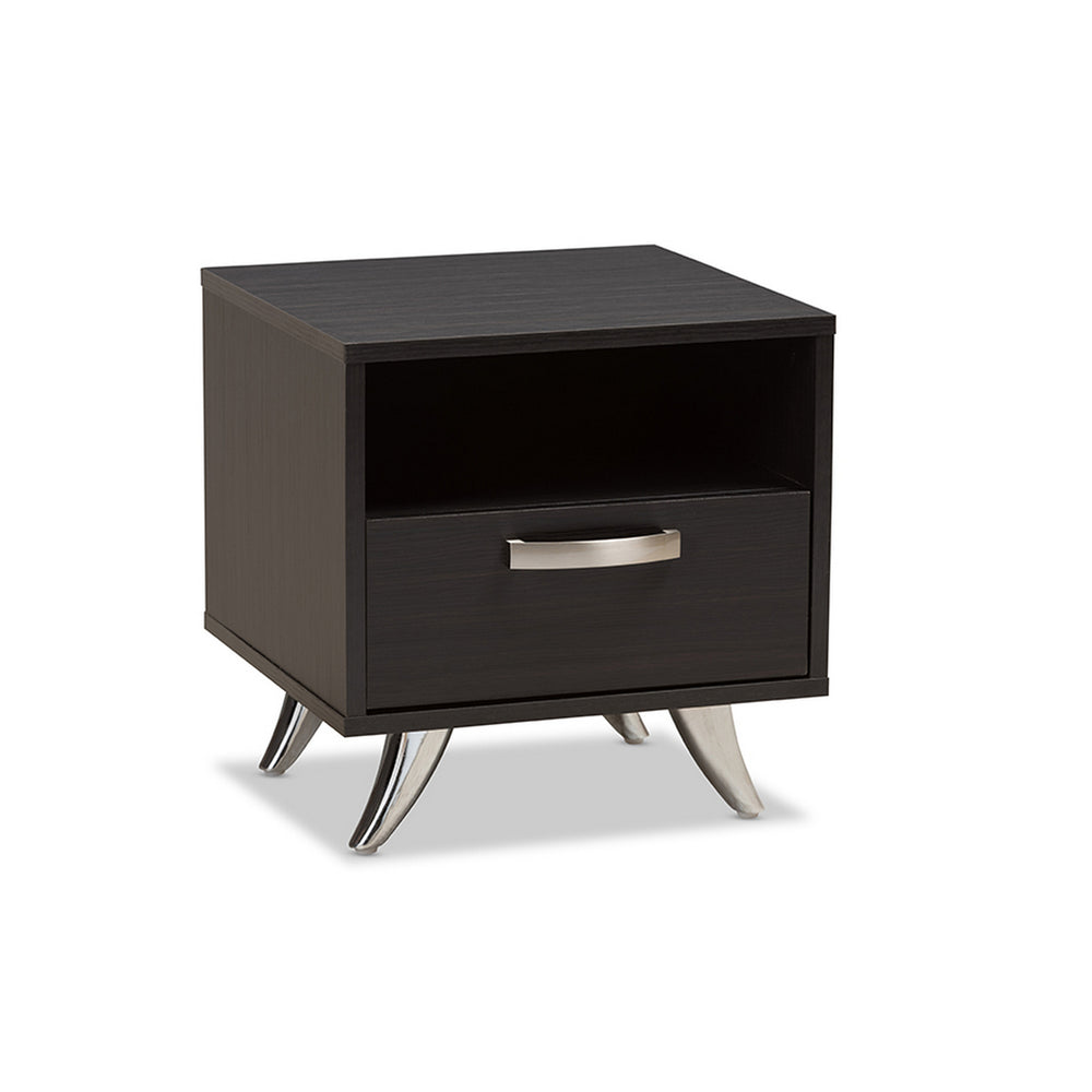 Urban Designs Warwick Modern Contemporary Espresso Brown Finished Wood End Table