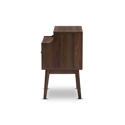 Urban Designs Disa Mid-Century Modern Walnut Brown Finished Nightstand