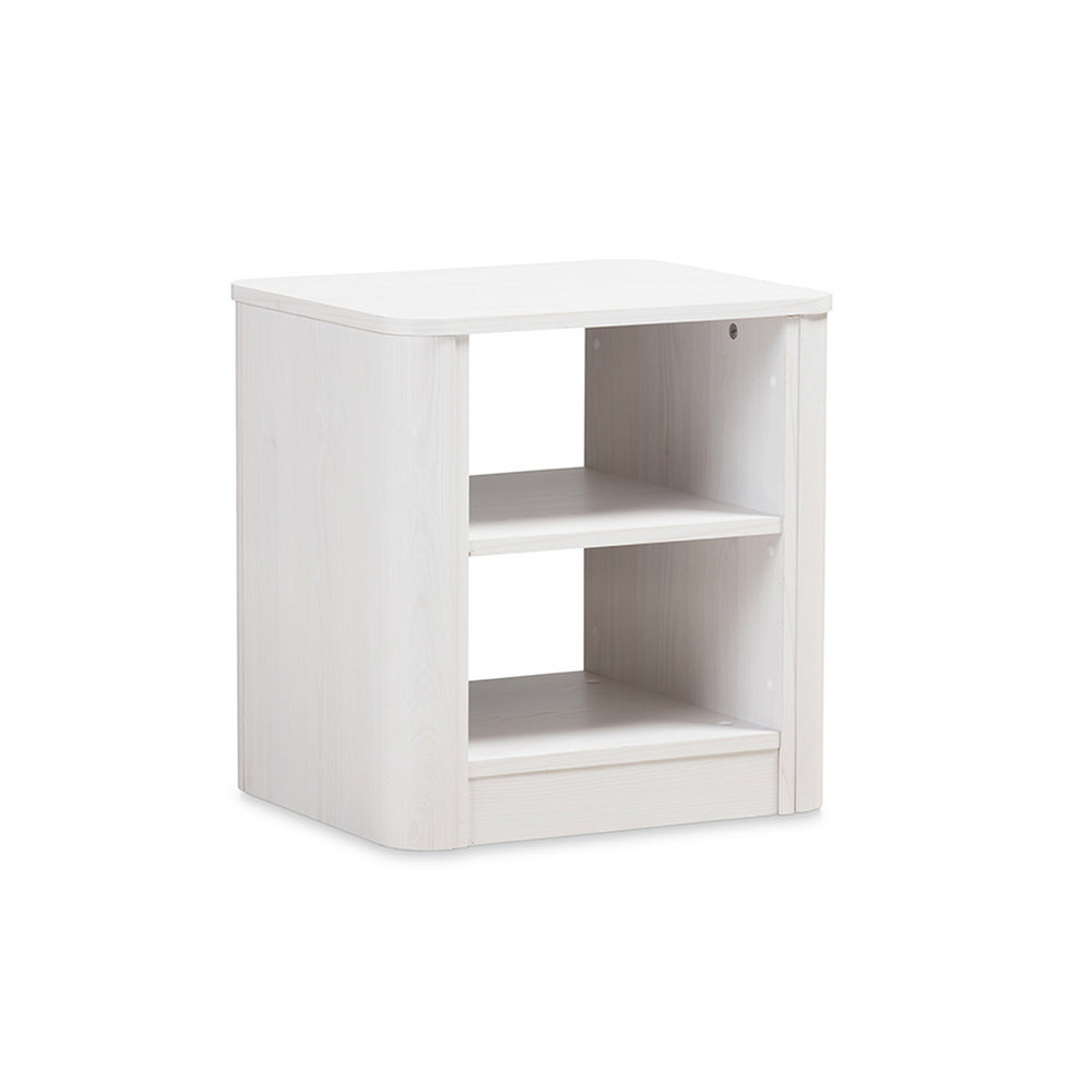 Urban Designs Carlingford Modern and Contemporary Whitewashed Wood Nightstand