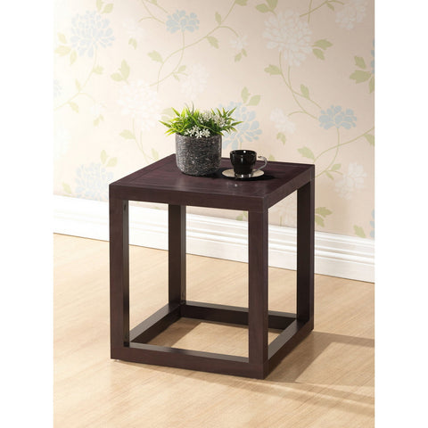 Urban Designs Hallis Brown Modern Accent Table and Nightstand
