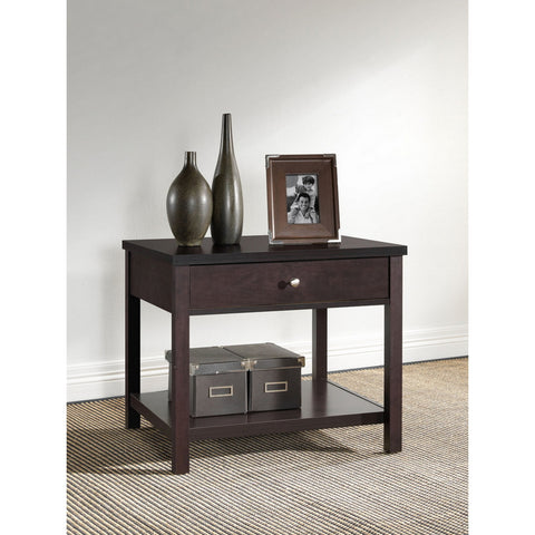 Urban Designs 22-Inch Brown Modern Accent Table and Nightstand