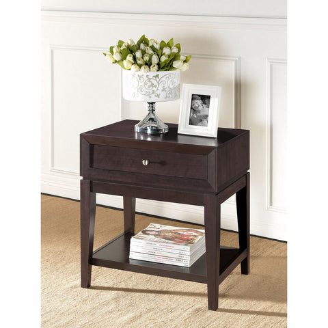 Urban Designs 27-Inch Brown Modern Accent Table and Nightstand