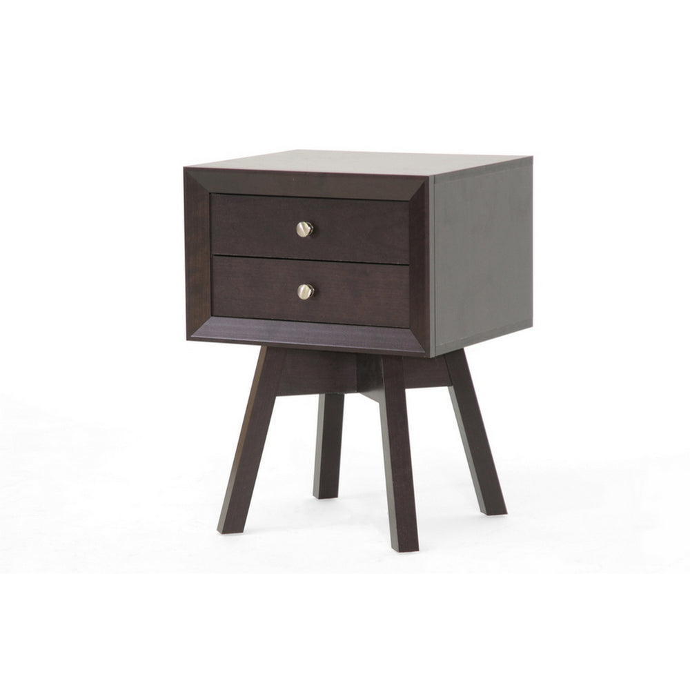 Urban Designs 24-Inch Warwick Brown Modern Accent Table and Nightstand