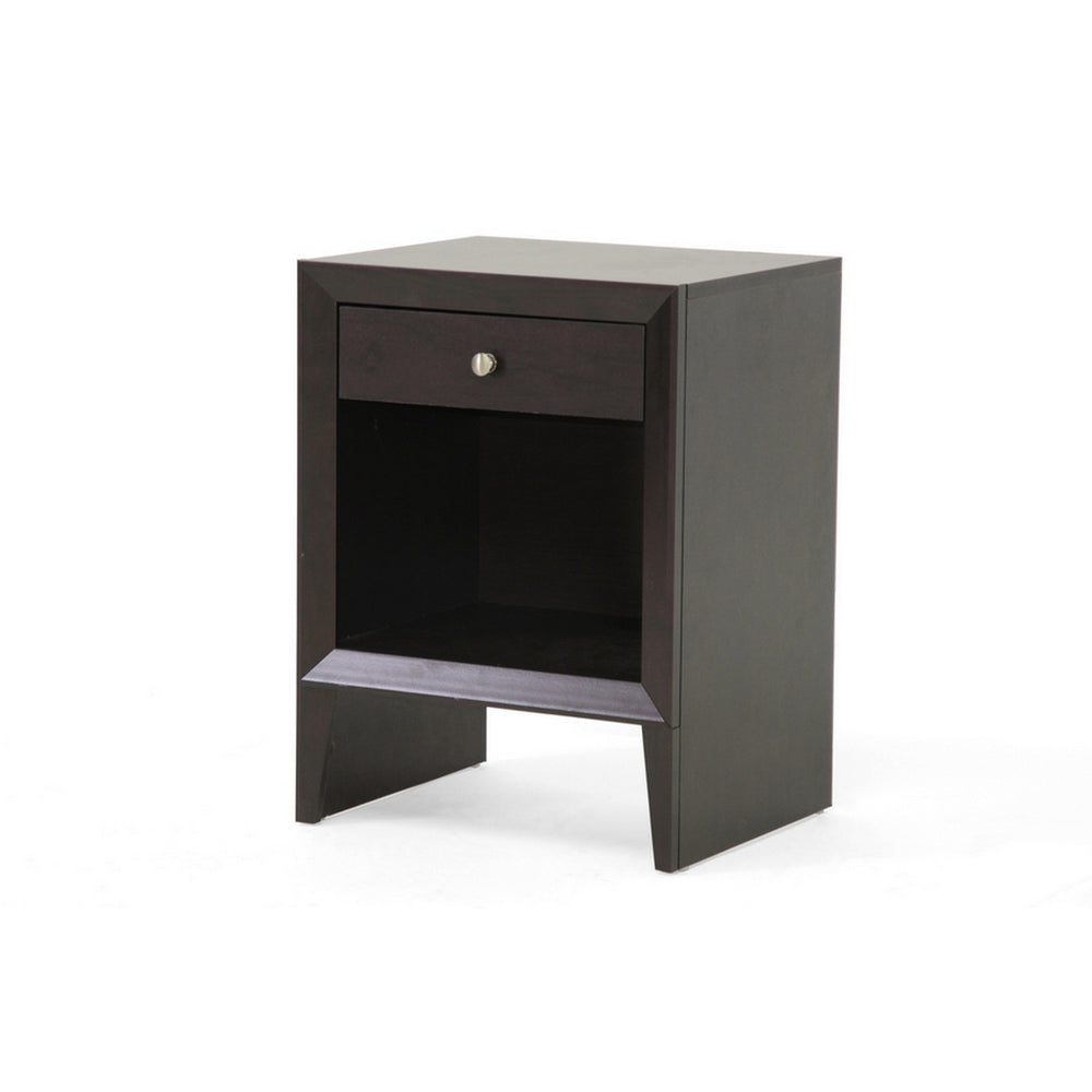 Urban Designs 24-Inch Leelanau Brown Modern Accent Table and Nightstand