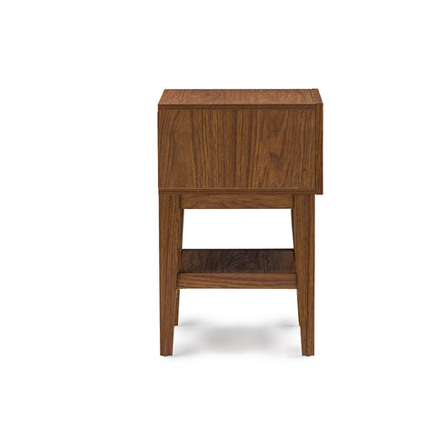 Urban Designs Gaston Two-tone Walnut and White Modern Accent Table Nightstand
