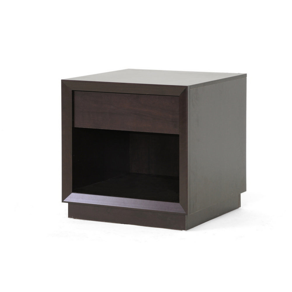 Urban Designs 22-Inch Cappuccino Modern Accent Table and Nightstand
