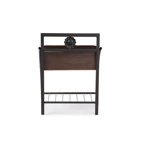 Urban Designs Jevenci Vintage Industrial Black Finished Metal Nightstand