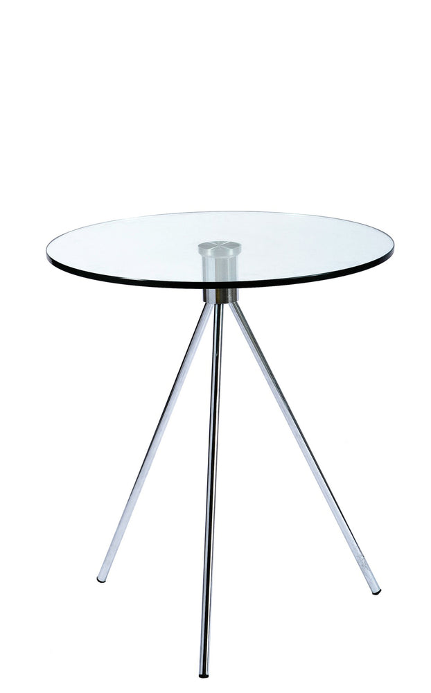 Urban Designs 22-Inch Triplet Round Glass Top End Table with Tripod Base