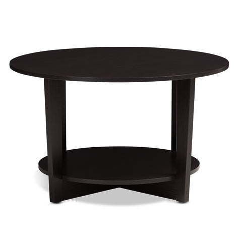 Urban Designs Gracie Wooden Coffee Table in Wenge Brown Finish